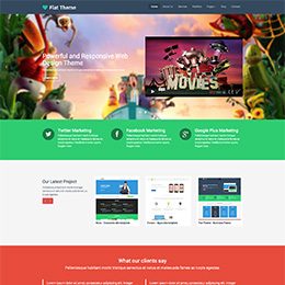 Flat Theme - Business Theme
